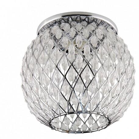 Встраиваемый светильник Lightstar Obungo 004434, 1xG9x40W, прозрачный, хром, металл, металл со стеклом