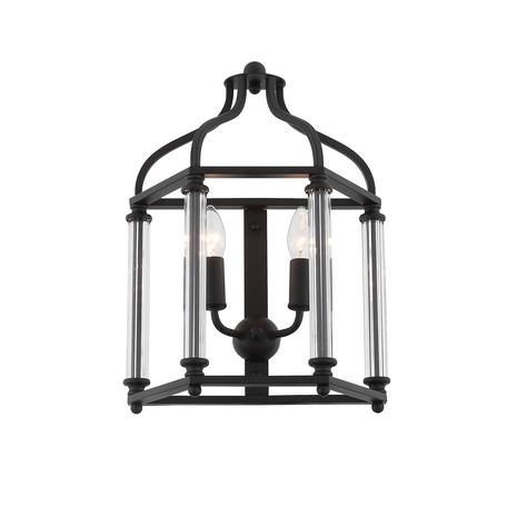 Бра ST Luce Cellula SL239.301.02, 2xE14x40W, черный, металл, металл со стеклом
