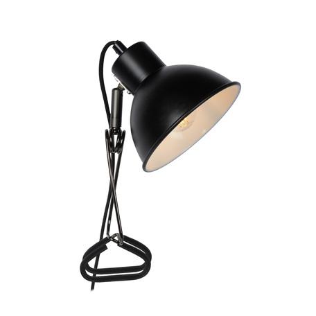 Светильник на прищепке Lucide Moys 45987/01/30, 1xE27x40W, черный, металл