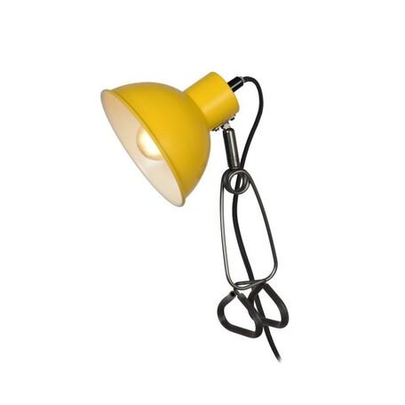 Светильник на прищепке Lucide Moys 45987/01/34, 1xE27x40W, черный, желтый, металл