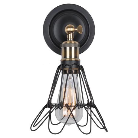 Настенный светильник с регулировкой направления света ST Luce Gabbia SLD963.301.01, 1xE27x60W, черный, металл