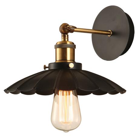 Настенный светильник с регулировкой направления света ST Luce Karlo SLD969.401.01, 1xE27x60W, черный, металл