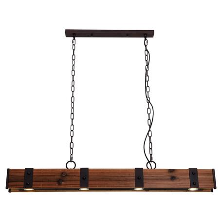 Подвесной светильник ST Luce Trave SLD980.703.04, 4xGU10x3W, черный, коричневый, металл, дерево