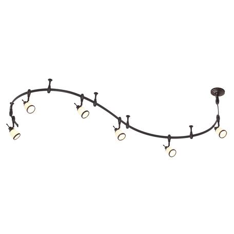 Гибкая система освещения Odeon Light Lofia 3806/6TR, 6xE14x60W, коричневый, белый, металл, стекло