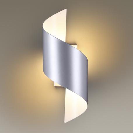 Настенный светодиодный светильник Odeon Light Hightech Boccolo 3800/5WL, LED 5W 3000K 425lm, серебро, металл