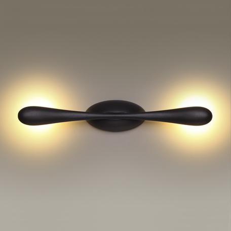 Настенный светодиодный светильник Odeon Light Bato 3809/6WL, LED 6W, 3200K (дневной), черный, металл