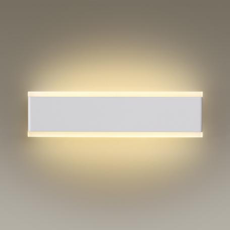 Настенный светодиодный светильник Odeon Light Stravi 3810/16WL 3200K (дневной), белый, металл, пластик