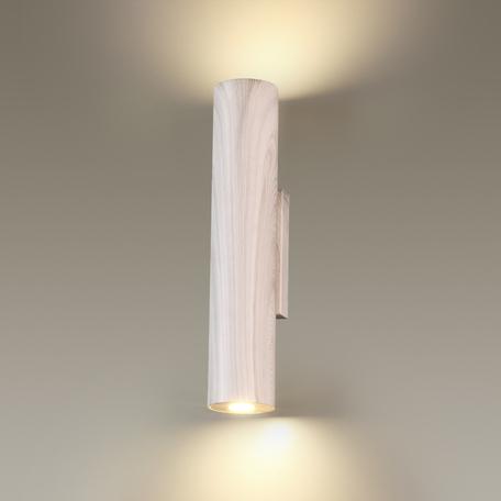 Настенный светодиодный светильник Odeon Light Woody 3826/8WL, LED 8W, 3000K (теплый), серый, металл