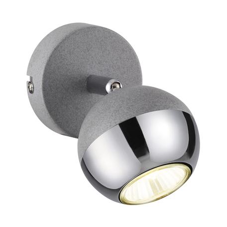 Настенный светильник с регулировкой направления света Odeon Light Cemeta 3801/1W, 1xGU10x50W, серый, хром, металл