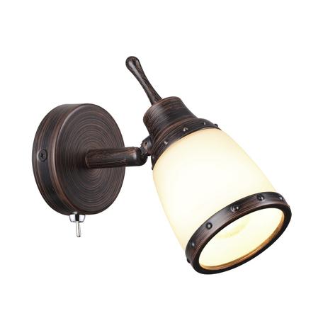 Настенный светильник с регулировкой направления света Odeon Light Lofia 3806/1W, 1xE14x60W, коричневый, белый, металл, стекло
