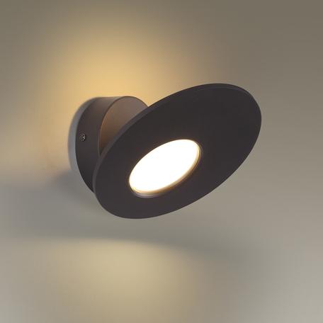 Настенный светодиодный светильник с регулировкой направления света Odeon Light L-Vision Rondi 3814/11WL, LED 11W 3000K 990lm, черный, черно-белый, металл