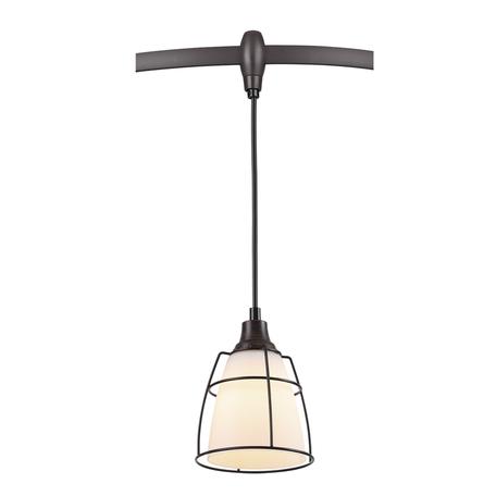Подвесной светильник для гибкой системы Odeon Light Lofia 3806/1A, 1xE14x60W, коричневый, белый, металл, стекло