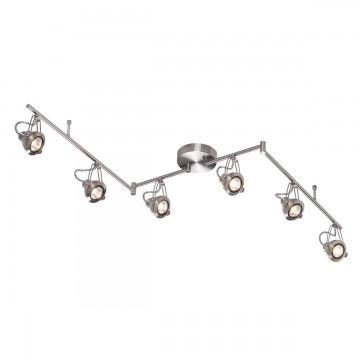 Потолочный светильник с регулировкой направления света Odeon Light Breta 3807/6C, 6xGU10x50W, никель, металл