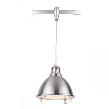 Подвесной светильник для гибкой системы Odeon Light Breta 3807/1A, 1xE27x60W, никель, металл - миниатюра 1