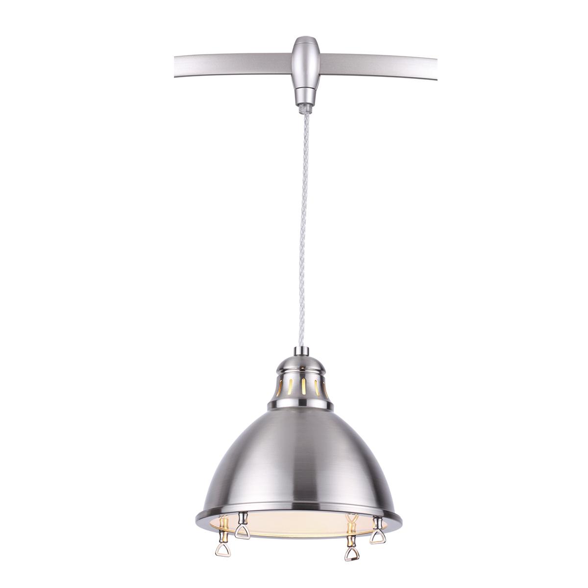 Подвесной светильник для гибкой системы Odeon Light Breta 3807/1A, 1xE27x60W, никель, металл - фото 1