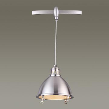 Подвесной светильник для гибкой системы Odeon Light Breta 3807/1A, 1xE27x60W, никель, металл - миниатюра 3