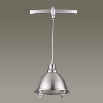 Подвесной светильник для гибкой системы Odeon Light Breta 3807/1A, 1xE27x60W, никель, металл - миниатюра 4