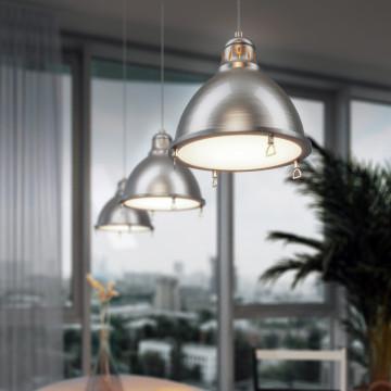 Подвесной светильник для гибкой системы Odeon Light Breta 3807/1A, 1xE27x60W, никель, металл - миниатюра 6