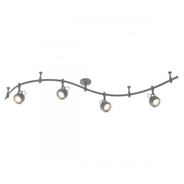 Гибкая система освещения Odeon Light Graffito 3803/4TR, 4xGU10x50W, серый, металл