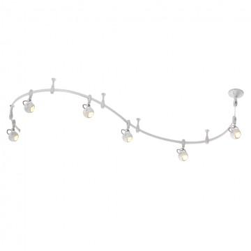 Гибкая система освещения Odeon Light Pulla 3804/6TR, 6xGU10x50W, белый, металл