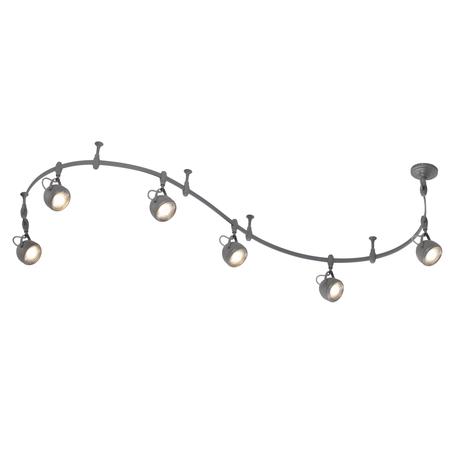 Гибкая система освещения Odeon Light Graffito 3803/6TR, 6xGU10x50W, серый, металл