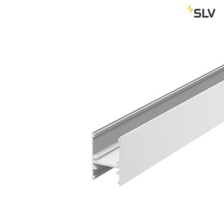 Накладной профиль для светодиодной ленты без рассеивателя SLV H-PROFIL 1001816, белый, металл
