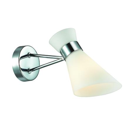 Бра Lumion Moderni Laconica 3498/1W, 1xE14x40W, хром, белый, металл, стекло