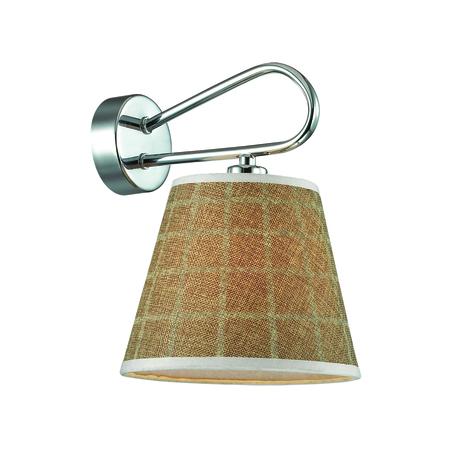 Бра Lumion Graziana 3499/1W, 1xE14x40W, хром, белый, коричневый, металл, текстиль