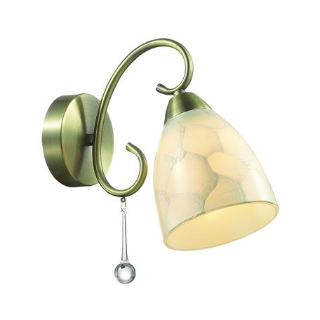 Бра Lumion Eleconca 3511/1W, 1xE27x60W, бронза, бежевый, прозрачный, металл, стекло - миниатюра 1