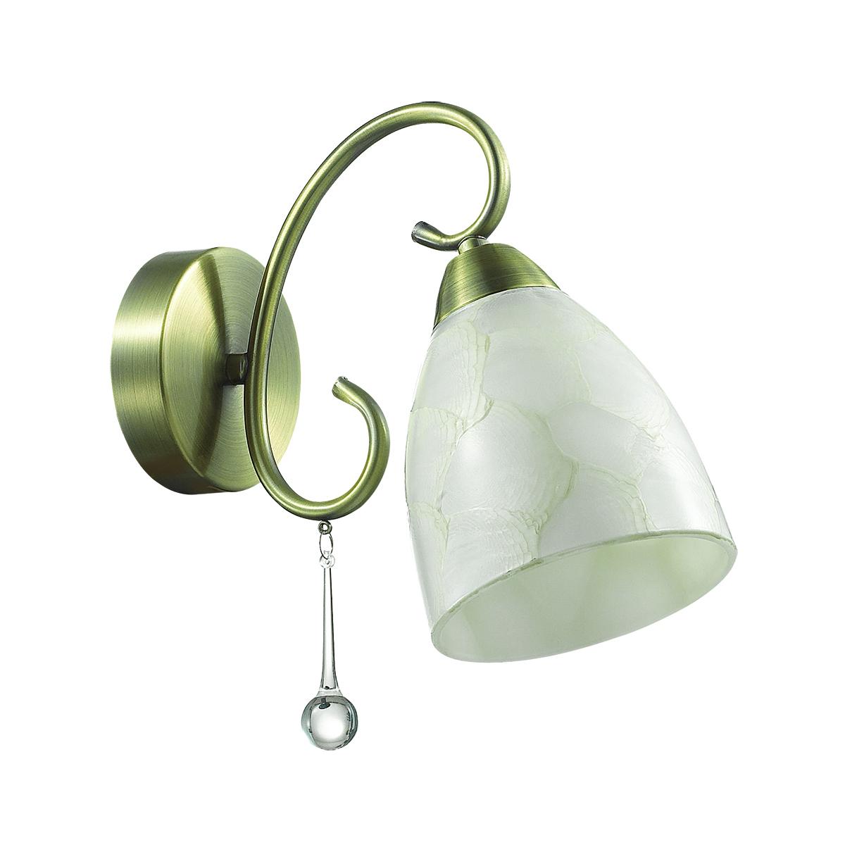Бра Lumion Eleconca 3511/1W, 1xE27x60W, бронза, бежевый, прозрачный, металл, стекло - фото 2