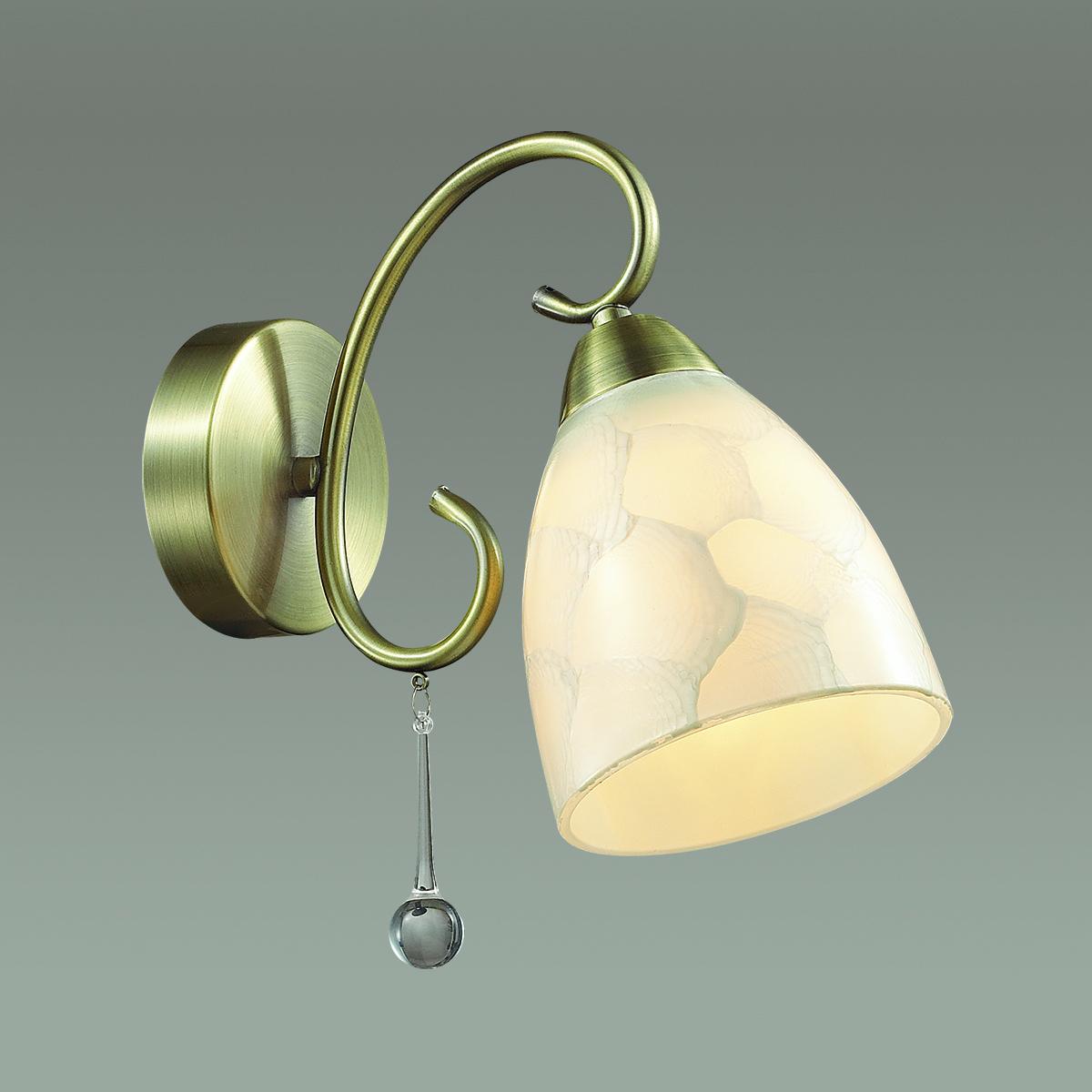 Бра Lumion Eleconca 3511/1W, 1xE27x60W, бронза, бежевый, прозрачный, металл, стекло - фото 3