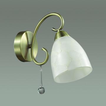 Бра Lumion Eleconca 3511/1W, 1xE27x60W, бронза, бежевый, прозрачный, металл, стекло - миниатюра 4