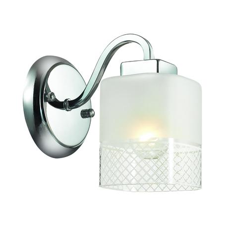 Бра Lumion Ananda 3528/1W, 1xE27x60W, хром, матовый, прозрачный, металл, стекло - миниатюра 1