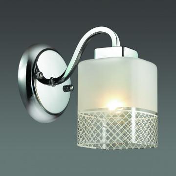 Бра Lumion Ananda 3528/1W, 1xE27x60W, хром, матовый, прозрачный, металл, стекло - миниатюра 3