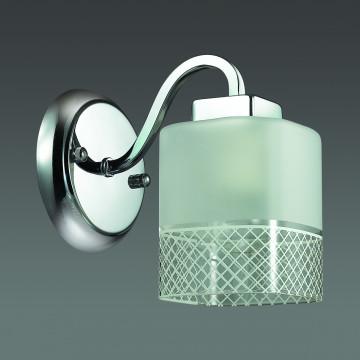Бра Lumion Ananda 3528/1W, 1xE27x60W, хром, матовый, прозрачный, металл, стекло - миниатюра 4