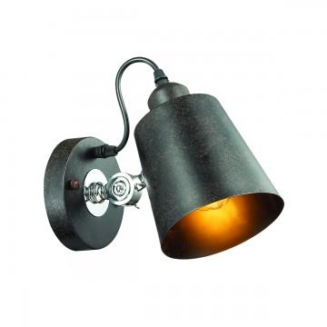 Настенный светильник с регулировкой направления света Lumion Neropius 3532/1W, 1xE27x60W, хром, черный, металл