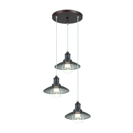 Люстра-каскад Lumion Lofti Ludacris 3513/3A, 3xE27x60W, коричневый, металл, металл со стеклом