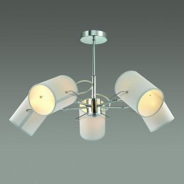 Люстра с регулировкой направления света на телескопической штанге Lumion Visario 3522/5C, 5xE14x40W, хром, серый, металл, текстиль - миниатюра 3
