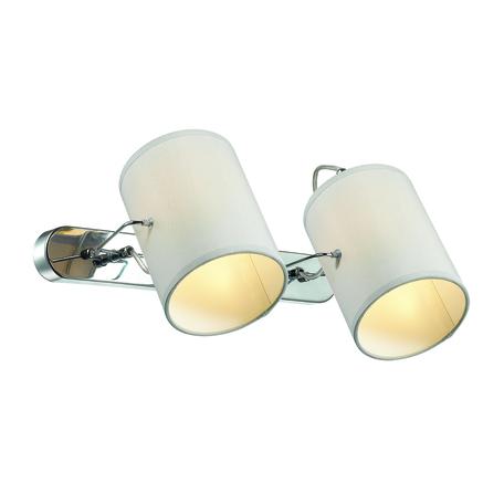Настенный светильник с регулировкой направления света Lumion Moderni Visario 3522/2W, 2xE14x40W, хром, серый, металл, текстиль