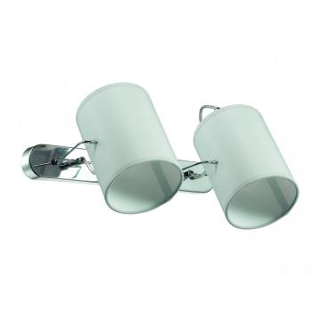 Настенный светильник с регулировкой направления света Lumion Visario 3522/2W, 2xE14x40W, хром, серый, металл, текстиль - миниатюра 2