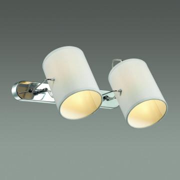 Настенный светильник с регулировкой направления света Lumion Visario 3522/2W, 2xE14x40W, хром, серый, металл, текстиль - миниатюра 3