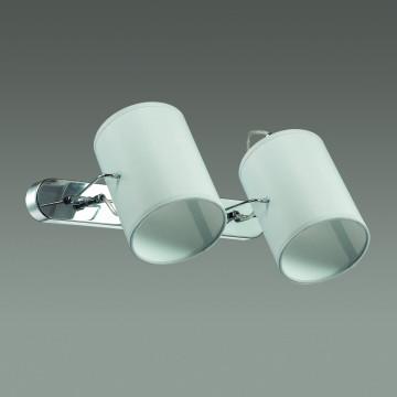 Настенный светильник с регулировкой направления света Lumion Visario 3522/2W, 2xE14x40W, хром, серый, металл, текстиль - миниатюра 4