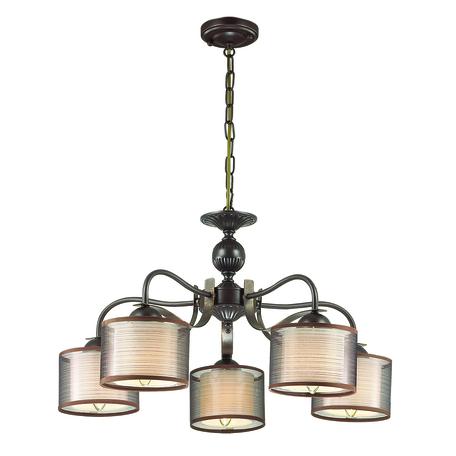 Подвесная люстра Lumion County Lilivant 3487/5, 5xE14x40W, коричневый, металл, текстиль