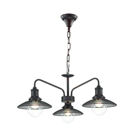Подвесная люстра Lumion Ludacris 3513/3, 3xE27x60W, коричневый, прозрачный, металл, стекло