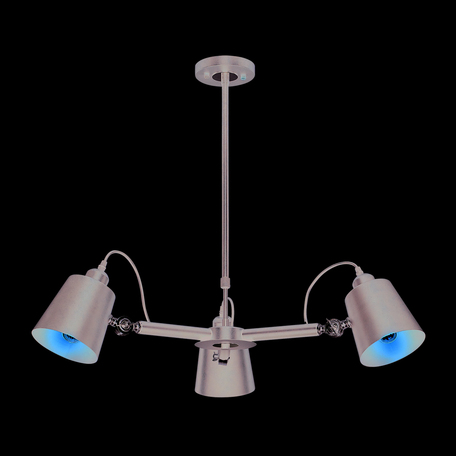 Подвесная люстра с регулировкой направления света Lumion Neropius 3532/3C, 3xE27x60W, хром, черный, металл