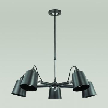 Подвесная люстра с регулировкой направления света Lumion Neropius 3532/5C, 5xE27x60W, хром, черный, металл - миниатюра 4