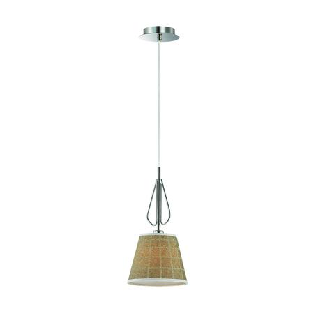 Подвесной светильник Lumion Graziana 3499/1, 1xE14x40W, хром, белый, коричневый, металл, текстиль