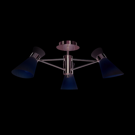 Потолочная люстра Lumion Laconica 3498/3, 3xE14x40W, хром, белый, металл, стекло