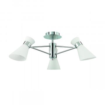 Потолочная люстра Lumion Moderni Laconica 3498/3, 3xE14x40W, хром, белый, металл, стекло - миниатюра 2