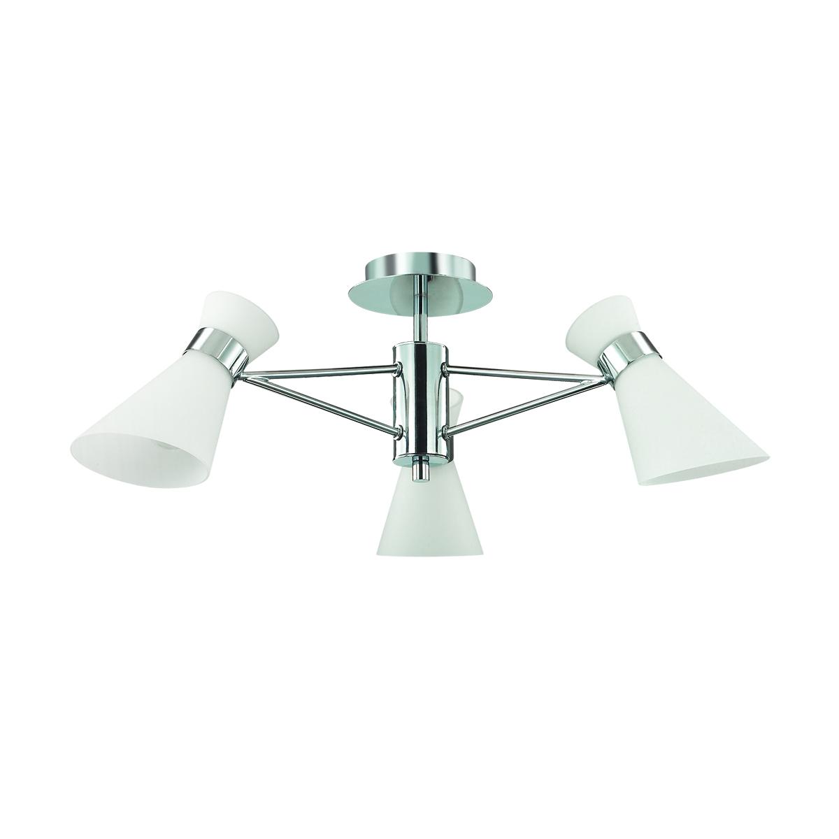 Потолочная люстра Lumion Moderni Laconica 3498/3, 3xE14x40W, хром, белый, металл, стекло - фото 2